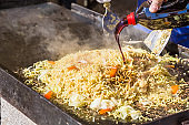 Fried noodle made with festival
