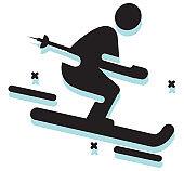 Skiing Snow Winter Sports Icon