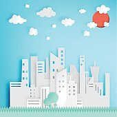 Beautiful cityscape paper