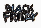Black Friday Made Of Black Helium Balloons