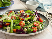 Healthy celery,cucumber and blue cheese salad