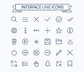 Line icons - Editable stroke
