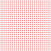 Abstract seamless pattern with red crosses on white background. Modern Swiss design in bauhaus style