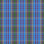 Tartan check plaid texture seamless pattern in yellow, blue and green.