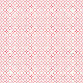 Abstract seamless pattern with red outline crosses on white background. Modern Swiss design in bauhaus style