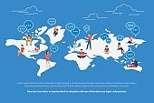 Global communication concept illustration