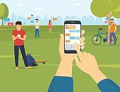Sending message via messenger on smartphone