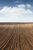 plowed field landscape agriculture industry
