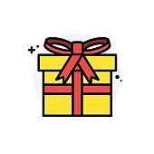 Gift box concept Isolated Line Vector Illustration editable Icon