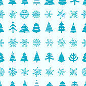 Christmas seamless vector background. Merry christmas and happy new year pattern
