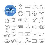 Outline icon set. Vector pictogram set