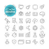 Outline icon set. Vector pictogram set