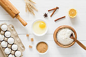 Ingredients for baking a cake / pastry / cookies