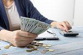 Save money, home budget concept