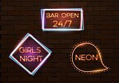 Vintage Neon Banner Template