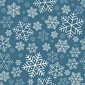 Seamless pattern with snowflakes Winter festive background on New Year and Christmas Pattern for greeting cards invitations wallpaper banners wraps advertising packaging Template for holidays Vector