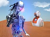 Robot Friends lost in The Desert