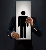 Businessman Showing His Avatar