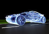 New Generation Concept Car On The Road