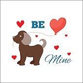 Animal dog in love vector