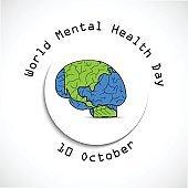 illustration of World Mental Health Day Background