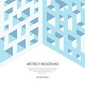 Abstract isometric background of geometric shapes. Three-dimensional forms.