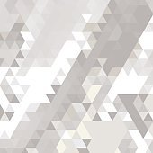 Abstract background of many triangles. Movement of geometric shapes.