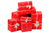 Gifts boxes Happy new year Christmas holiday