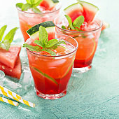 Refreshing summer drink with watermelon