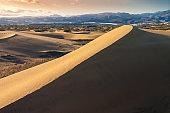 Masplomas sand dunes at sunset in Gran Canaria