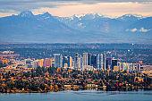 Aerial view of Bellevue, Washington