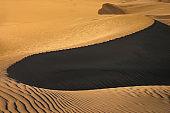 Winding Masplomas sand dunes in Gran Canaria