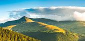 Papusa peak and Ranca resort ski slopes