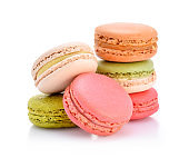 Sweet and colourful french macaroons or macaron