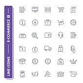 Line icons set. E-commerce 1
