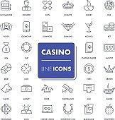 Line icons set. Casino