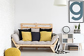 Black and yellow home accesorises