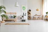 Nature and wood in home