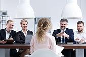 Woman on job interview