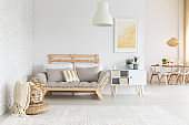 White and beige in living room