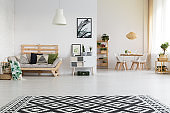 Ethnic and simple living room