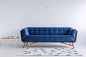 Comfortable blue couch