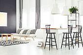 Room with beige sofa