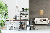 Multifunctional loft with dining room