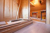 Home improvement, new parquet flooring