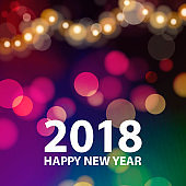 Happy New Year Sparkle Lights 2018