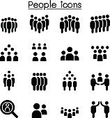 People icon set vector illustration