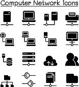 Server & Computer network icon set vector illustration Graphic Design