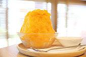 Japanese sweet food , Mango shaved ice