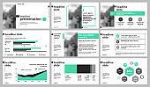 Presentation templates elements on a white background.